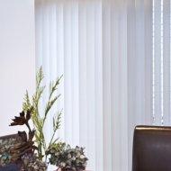 stunning white vertical blinds