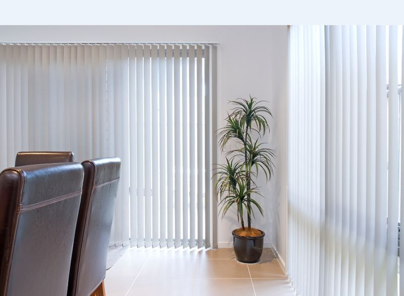 vertical blinds frond and side