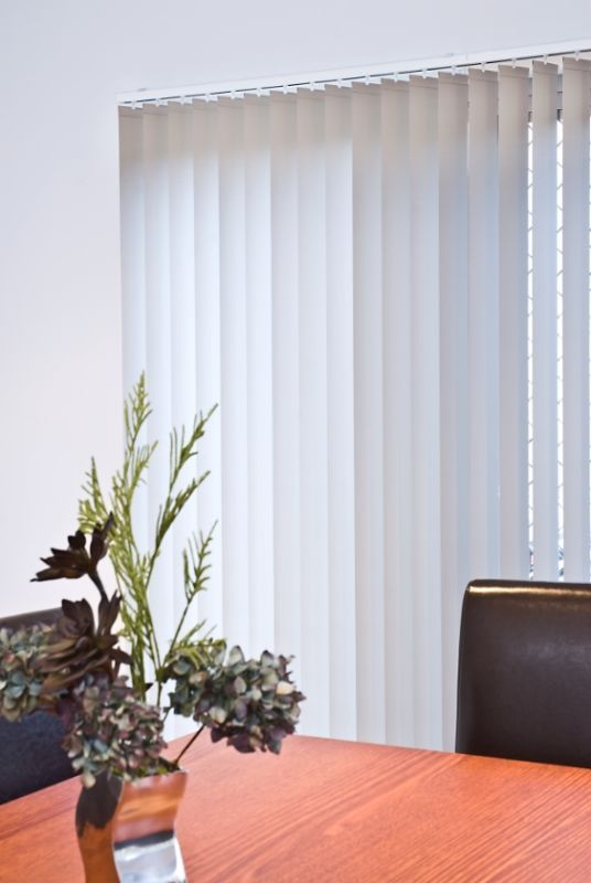 stunning white vertical blinds
